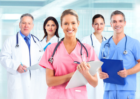 Group of doctors. photo