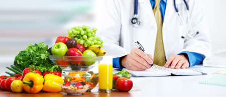 Nutritionist doctor man Stock Photo
