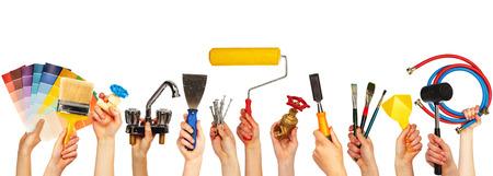 pintor: Conjunto de herramientas de construcci�n.