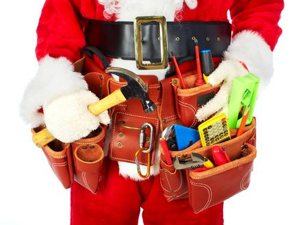 working belt: Santa Worker with a tool belt.