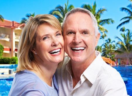 Happy senior couple portrait photo