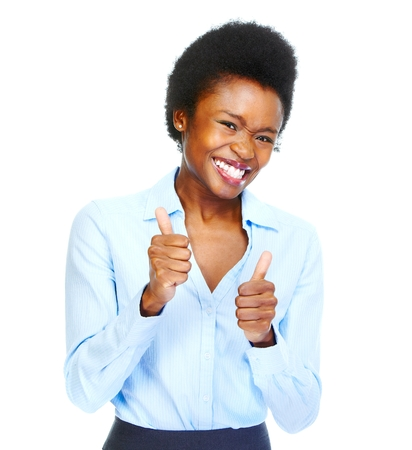 working woman: Happy african business woman