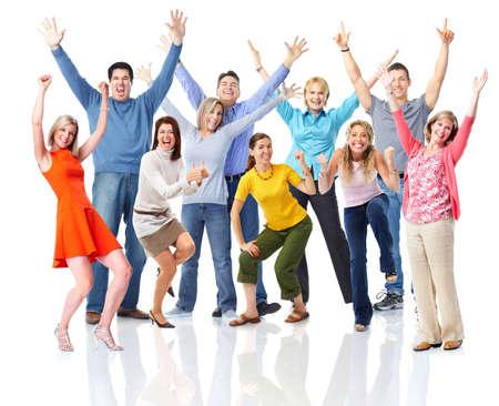 Gente feliz. Foto de archivo