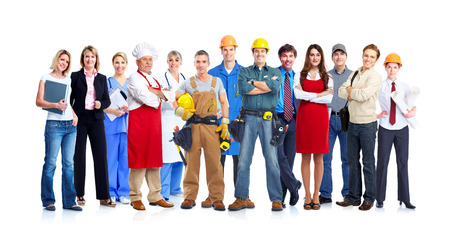 community service: Business people team. Stock Photo
