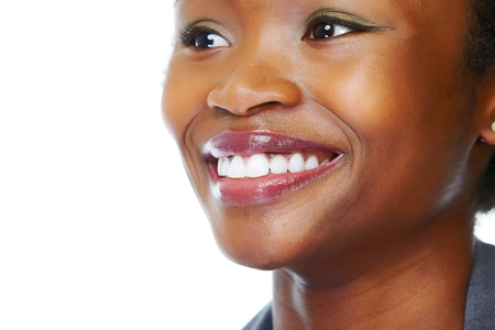 smile close up: Face of african business woman