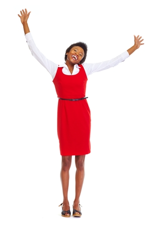 Happy african business woman photo