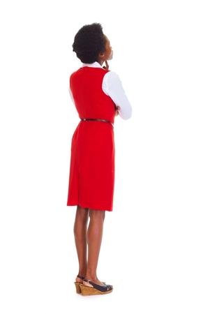 copyspace: Woman looking copyspace Stock Photo