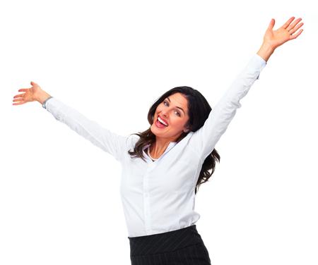 celebration: Happy woman.