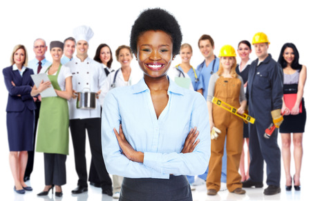 African woman and business team. Stock Photo