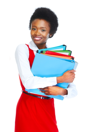african student: Young african student woman