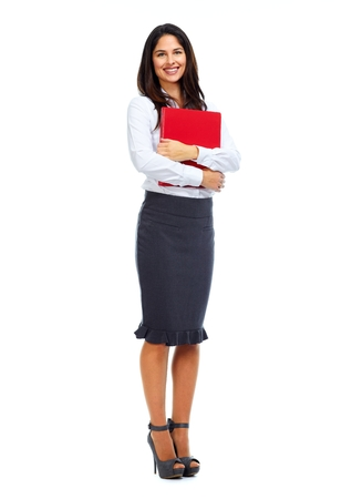 to the secretary: Beautiful business woman.