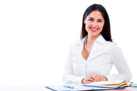 secretary desk: Business woman.