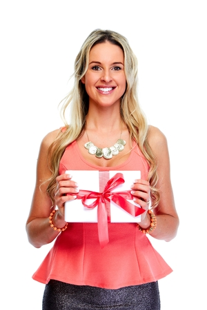 hait: Woman with Xmas gift.