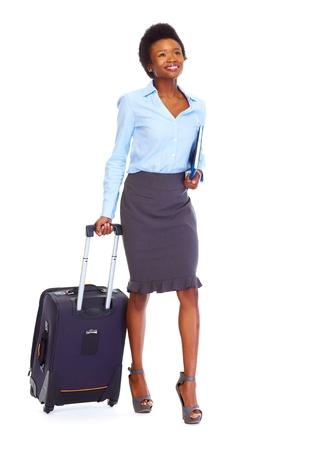 mujer con maleta: Las empresas africanas mujer con la maleta