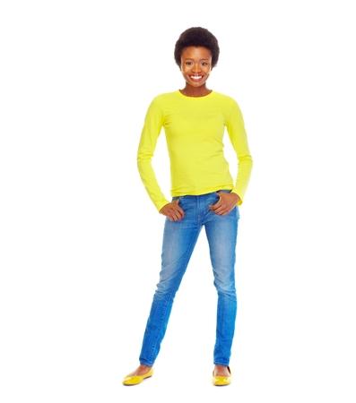 yellow shirt: Student woman