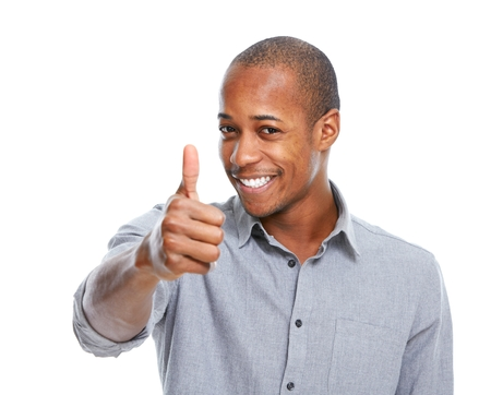 Happy African-American man. Stock Photo