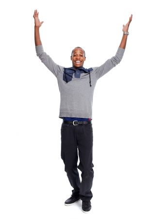 african american male: Happy African-American man. Stock Photo
