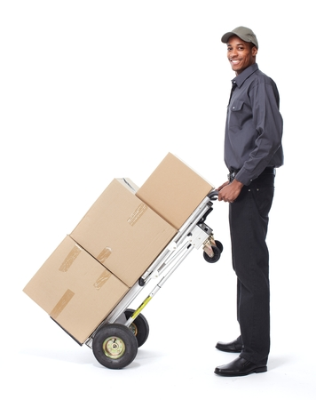 post man: African-American postman.