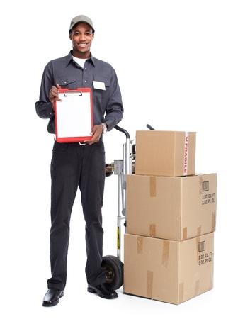 African-American postman. photo