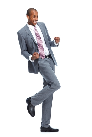 african business man: Happy African-American Businessman Stock Photo