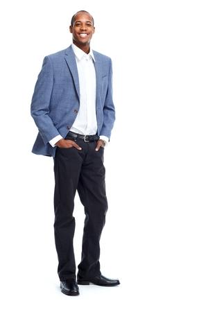 bonhomme blanc: �l�gant d'affaires afro-am�ricain Banque d'images