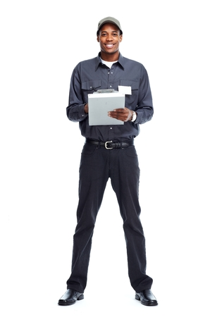 african business: African American worker man.