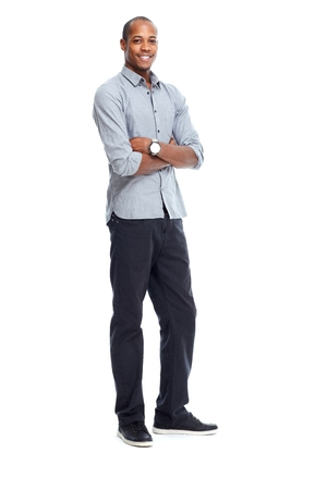 man isolated: Stylish African-American black man Stock Photo