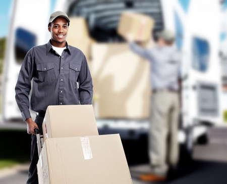 merchandise: African-American postman.