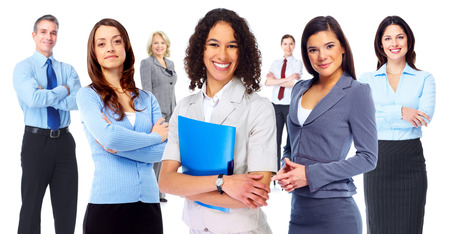 group  accountant: Business woman group. Stock Photo