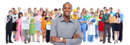 la société: Les hommes d'affaires et les travailleurs professionnels groupe. Travail d'équipe. Banque d'images