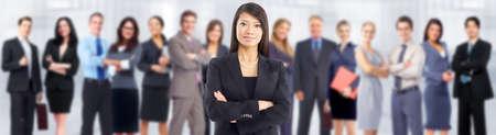 lideres: Equipo de negocios. Foto de archivo