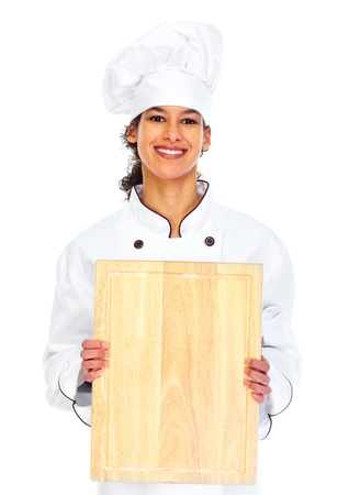 Young chef woman photo