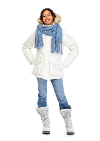winter fashion: Woman in winter coat Stock Photo
