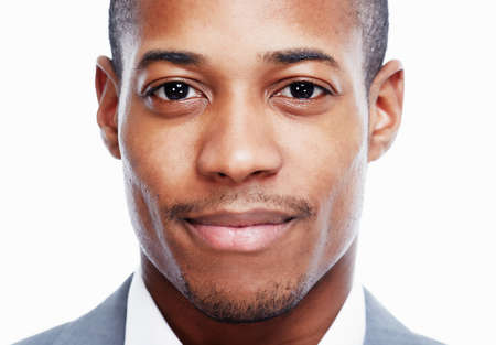 closeup: African American man. Stock Photo