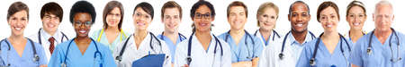 men health: Group of medical doctors. Health care banner background