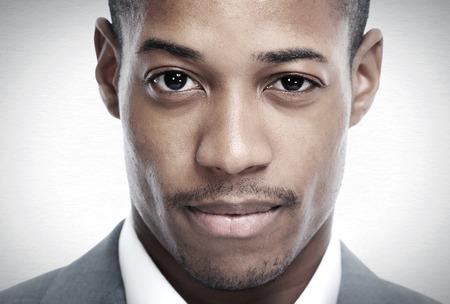 hombres negros: Empresario afroamericano Foto de archivo