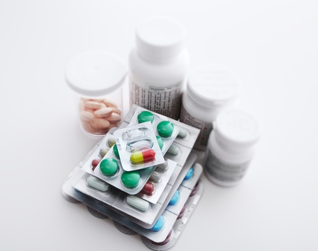 pastil: Many Medical pills. Health care Pharmaceutical background Stock Photo