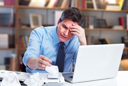 Accountant zakenman met een stress- Stockfoto