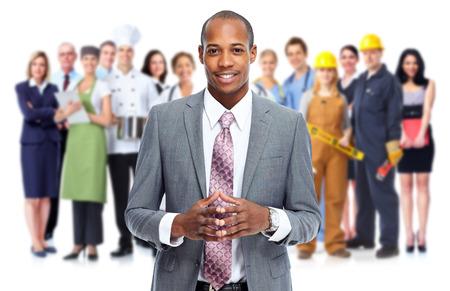 hombre de negocios: Los empresarios y los trabajadores del grupo. Equipo de Trabajo.