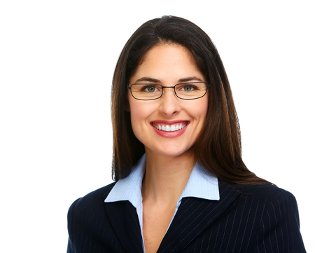 Young business woman with eyeglasses. photo