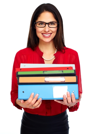 Young student woman with books. photo