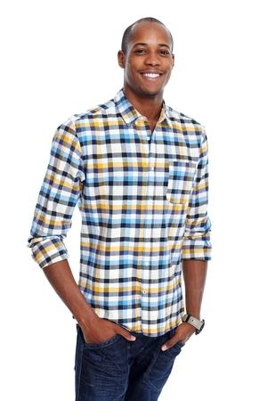 black: Casual African-American man
