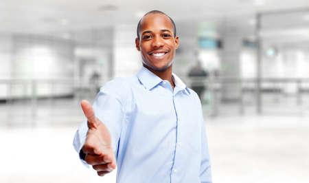 black businessman: African-American black businessman.
