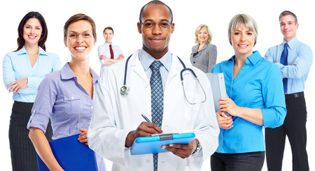 medical study: Business people team. Stock Photo