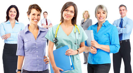health woman: Business people team. Stock Photo