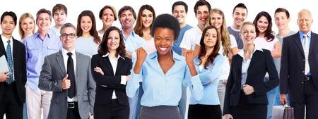 happy crowd: Business team.