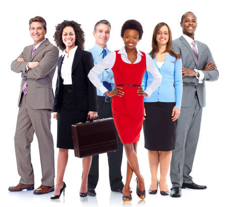 african business woman: Business people team. Stock Photo