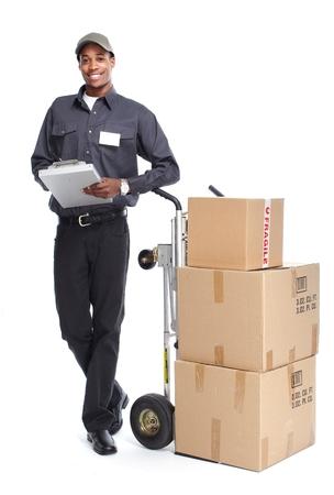 postman: African-American postman.