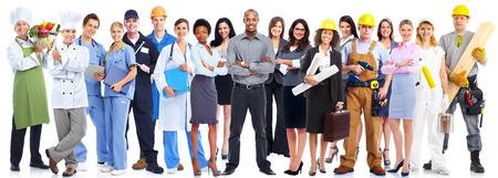 onderwijs: Mensen uit het bedrijfsleven werknemers groep. Stockfoto