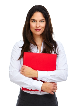Young business woman with folder. photo